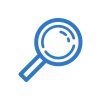 magnifying glass icon in a circle